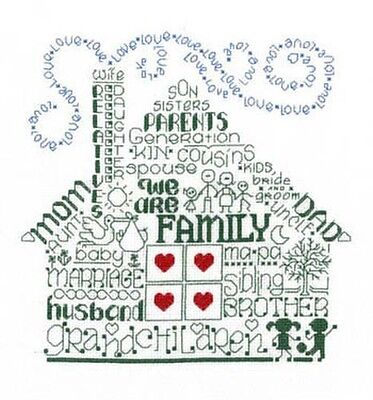 Let's Be Family - Cross Stitch Chart By Ursula Michael
