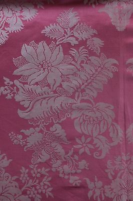 Rare Never Used Antqiue French Lyon Silk Pink Sample Panel c1880-1890~Home