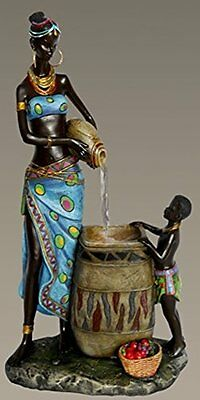 Gorgeous African American Mother and Boy Indoor Water Fountain Collector Art ...