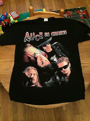 Alice In Chains Rare HTF OOP Layne Staley AIC Tour Shirt