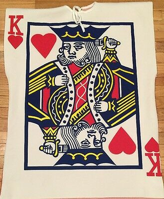 King of Hearts ❤️ Card Costume - �� Halloween Sensation - Adult Size Fun Easy