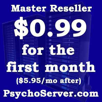 Master Reseller Unlimited Hosting - CloudLinux - 0.99$ For First Month