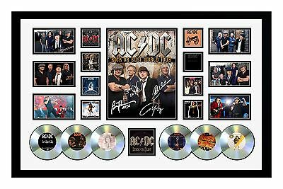 New Acdc Rock Or Bust 2015 Tour Signed Limited Edition Framed Memorabilia