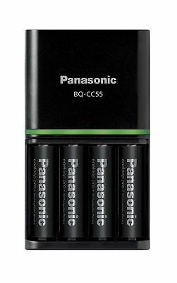 Panasonic Charger + 4 Eneloop Pro Batteries 2500 mAh AA Rechargeable Batteries