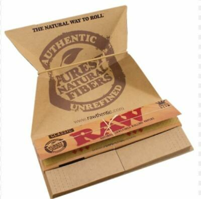 Raw Classic Artesano King Size Slim Rolling Papers + Tips + Tray Smoking Tobacco
