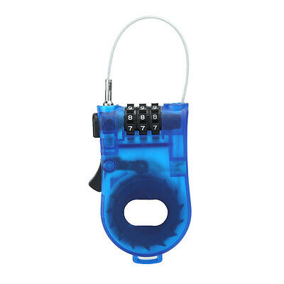 Protable Safety Retractable Luggage Bike 3 Digit Combination Cable Password Lock