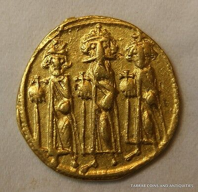 ANCIENT BYZANTINE GOLD COIN HERACLIUS. SOLIDUS 610 - 641 A.D. Rare coin!