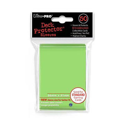 50 ULTRA PRO Deck Protector Card Sleeves Magic Pokemon Standard 84099 Lime Green