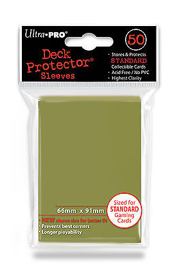 50 ULTRA PRO Deck Protector Card Game Sleeves Magic Standard 84468 Metallic Gold