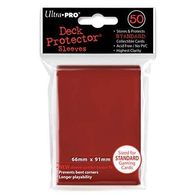 50 ULTRA PRO Deck Protector Card Sleeves Magic Pokemon Standard Size 82672 Red