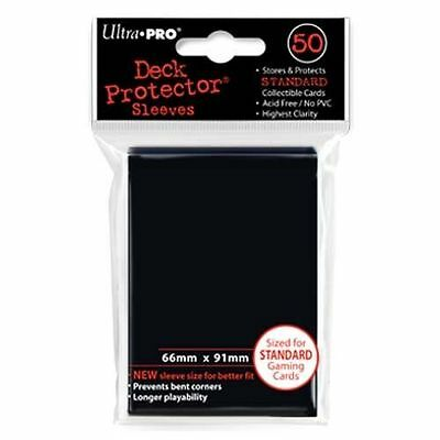 50 ULTRA PRO Deck Protector Card Sleeves Magic Pokemon Standard 82669 Black