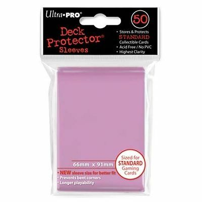 50 ULTRA PRO Deck Protector Card Sleeves Magic Pokemon Standard Size 82674 Pink
