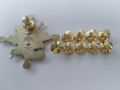 gold 10pcs brass secure locking lapel pin backs keepers jewelry findings scouts