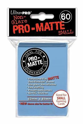 60 Ultra Pro Pro-Matte Small Mini Deck Protector Card Sleeves 84270 Light Blue