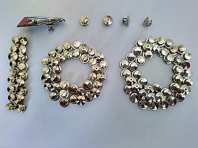 100pcs silver brass flathead pin keepers locks no tools required disney military