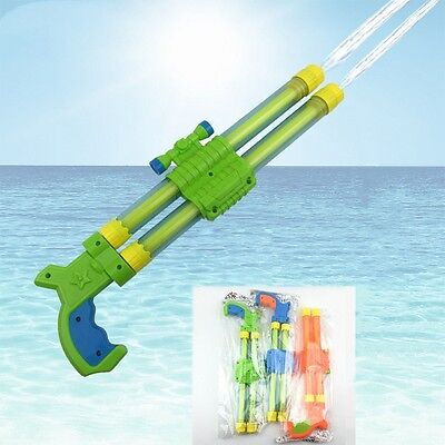 Child Beach Water Gun Kids Super Soaker Pistol Double Barrel Holiday Squirt Toys