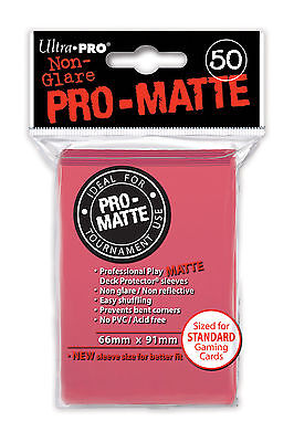 50 ULTRA PRO Pro-Matte Deck Protector Card Sleeves Magic Standard 84506 Fuchsia