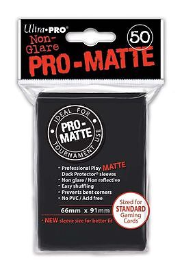 50 ULTRA PRO Pro-Matte Deck Protector Card Sleeves Magic Standard 82728 Black