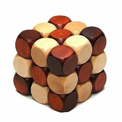 Chinese Puzzle Wooden Kongming lock Wood Brain Teaser Game Toy Gift
