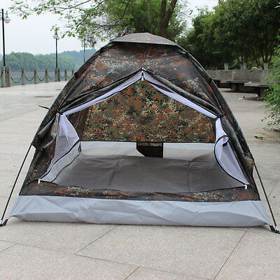 Outdoor Waterproof Camouflage Camping Tent Portable Single Layer For 2 People