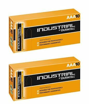 20 X Duracell AAA Industrial MN2400 Battery Alkaline Replaces Procell Long Exp
