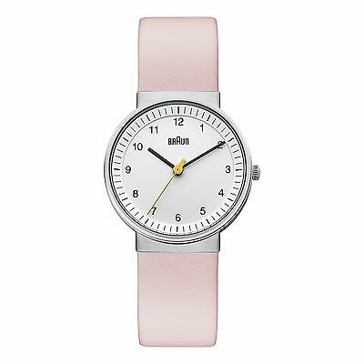 Braun Ladies Classic Quartz Watch with White Dial and Pink Strap BN0031WHLPKL