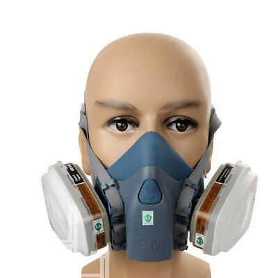 7 Piece Suit Half Mask Respirator Painting Spraying Face Gas Filters for 3M 7502