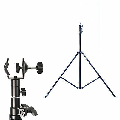 Phot-R 3m Light Stand Photo Studio C Clamp Clip 5/8 Stud Spigot for Boom Arm Pol