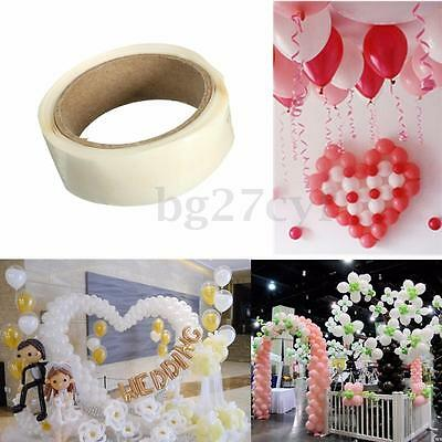 1-10X Double Sided 300 Dots Sticky Glue Adhesive Tape Craft Party Balloon Making