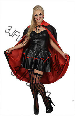 Halloween Unisex Reversible Vampire Cape Dracula Devil Cloak Fancy Costume (EH)