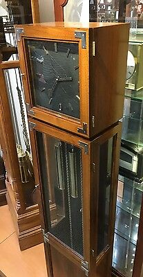 Herschede Mahogany Art Deco Grandfather Clock