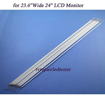 10Pcs 533mm*2.4mm CCFL Backlight Lamps for 23.6''Wide/24'' LCD Monitor New