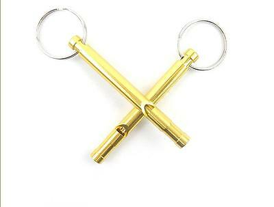 2pcs Hot Hiking Outdoor Survival Whistle Emergency Camping Compass Kit Tool