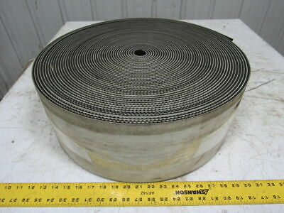 "2-Ply Black Rubber Rough Top Incline Conveyor Belt 123' X 6-7/8"" X 0.209"""