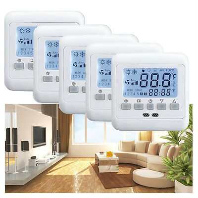 ocd5 up thermostat mit touch display f gira busch j ger. Black Bedroom Furniture Sets. Home Design Ideas