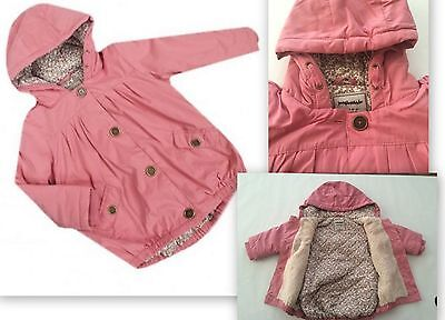 New baby girls ex NXT pink winter coat age 3-6 6-9 9-12 12-18 18-24 2-3 3-4 4-5