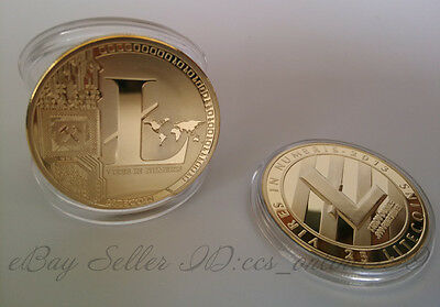 New Physical Litecoin LTC Coin 1 Ounce Gold Plated Nice Collection 1Pcs
