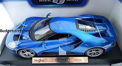 NEW MAISTO 1:18 Special Edition - 2017 model Ford GT in Blue VERY RARE