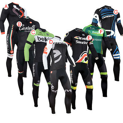New Cycling Jacket Long Sleeve Bicycle Clothing Suit Jersey Bib Pants Breathable