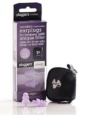 Pluggerz Sleep Aid Ear Plugs Snore Noise Block Soft Silicone Protection Earplugs