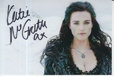 Katie Mcgrath Hand Signed 6X4 Photo Merlin, Morgana Pendragon 1.