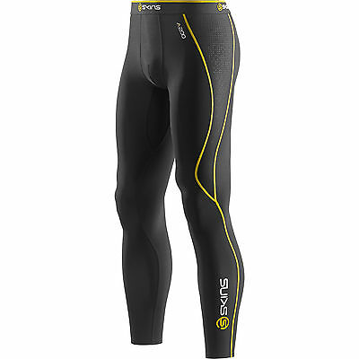 Skins A200 Men's Compression Thermal Long Tights Black/Yellow XL