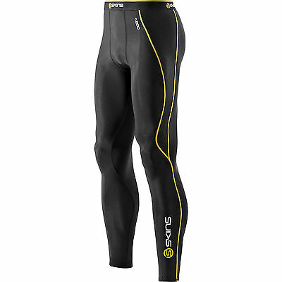 Skins A200 Men's Compression Long Tights Black/Yellow XL