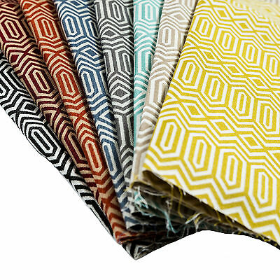 Colorado Geometric Fabric by the metre, Woven Jacquard - Curtain and Craft.