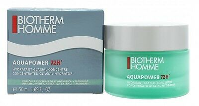 Biotherm Homme Aquapower 72H Concentrated Glacial Hydrator 50Ml - Men's. New