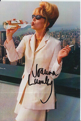 Joanna Lumley Hand Signed 6X4 Photo Absolutely Fabulous Patsy 1.