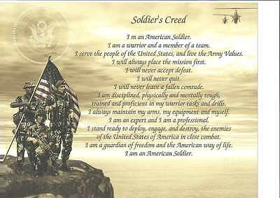 Army Soldier's Creed Personalize with Name