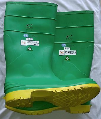 "Onguard Hazmax Green Size 15"" 87012-OS Ultragrip Sipe Sole Steel Toe Boots"