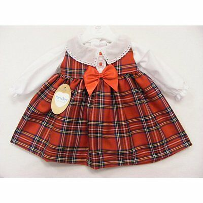 Kinder Red Tartan Pinifore Dress and Blouse (From 0 - 18 months)