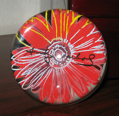 Vintage Authentic Rosenthal Crystal Paperweight ❤ Andy Warhol Sunflower❤ Pop Art